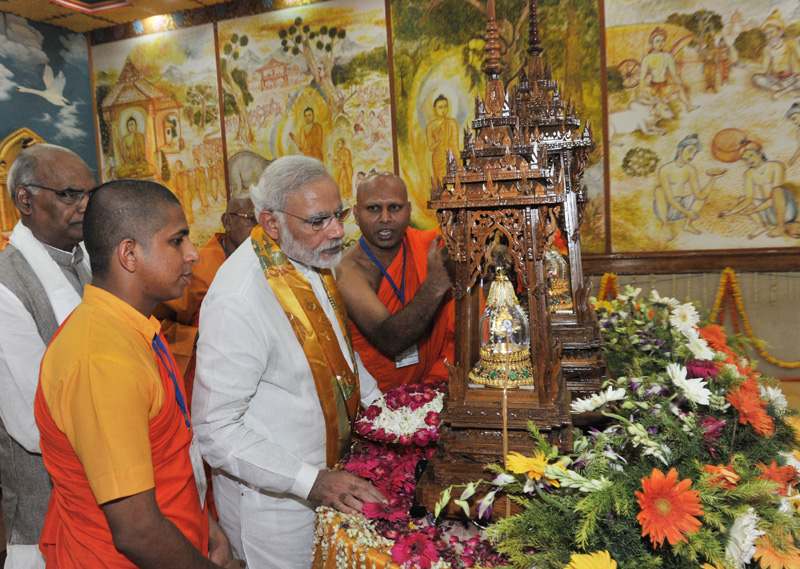 Text of PM's address at Mahabodhi Temple in Bodh Gaya