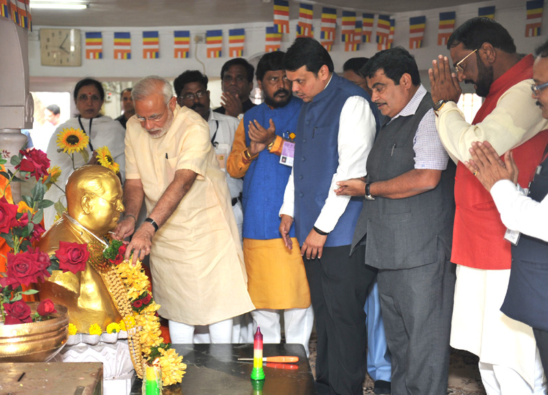प्रधानमंत्री ने चैतन्य भूमि पर डॉ. बाबासाहेब अंबेडकर को श्रद्धांजलि अर्पित की; डॉ. बाबासाहेब अंबेडकर स्मारक की आधारशिला रखी