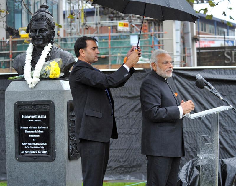 PM unveils Basaveshwara Statue, inaugurates Dr Ambedkar Memorial in London