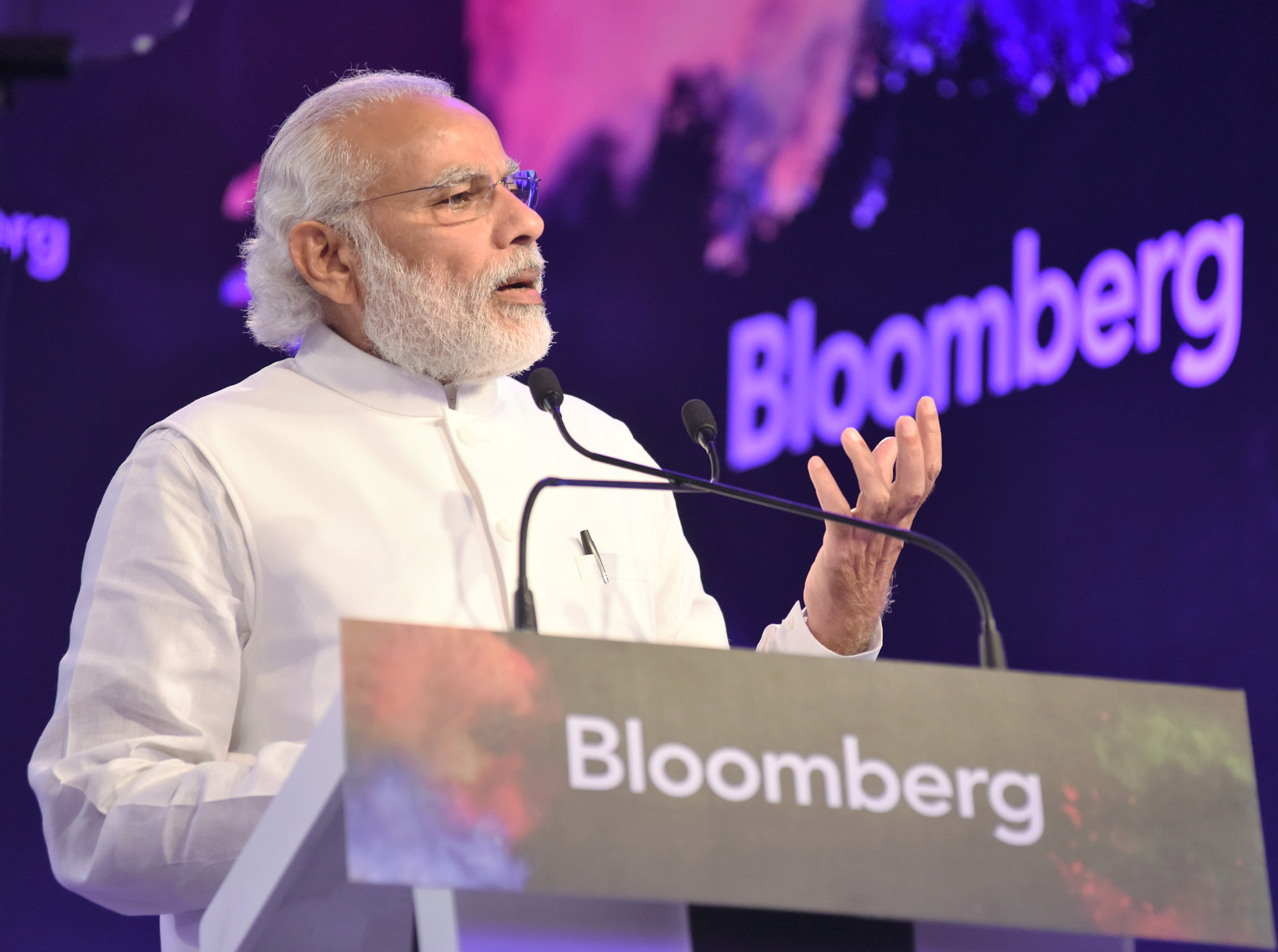 Text of PM's address at the Bloomberg India Economic Forum-2016