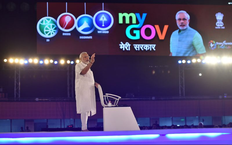 PM's unique townhall interaction to mark two years of the launch of MyGov