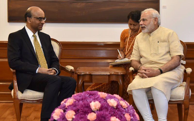 Mr. Tharman Shanmugaratnam, Deputy Prime Minister of Singapore calls on PM