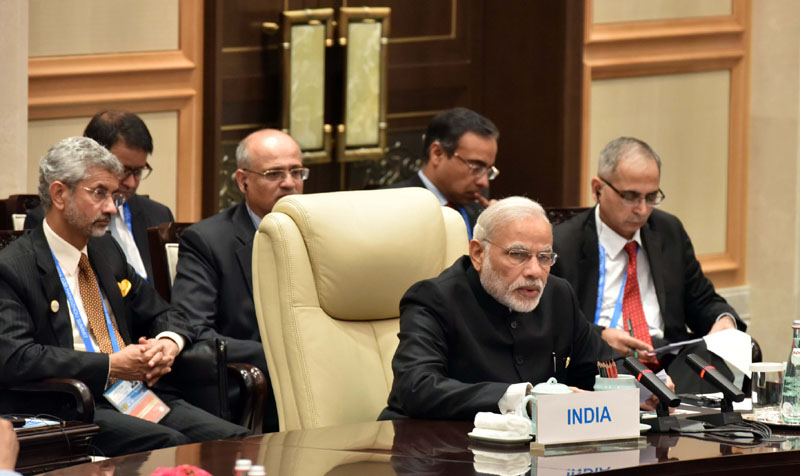 The Prime Minister, Shri Narendra Modi attending the BRICS leaders' meeting, on the sidelines of G20 Summit 2016, in Hangzhou, China on September 04, 2016.