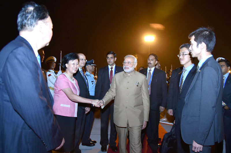 The Prime Minister, Shri Narendra Modi emplanes for Delhi from Hangzhou, China after attending the G20 Summit 2016, on September 05, 2016.
