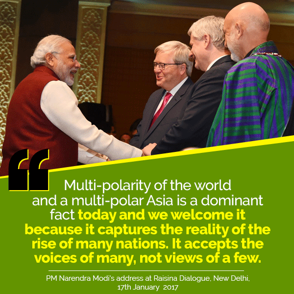 PM's address at Raisina Dialogue, New Delhi
