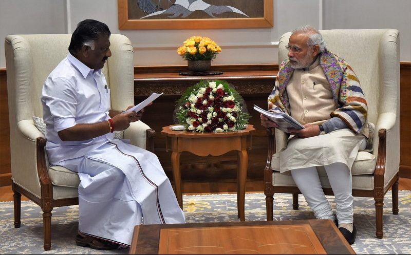 Tamil Nadu Chief Minister calls on PM