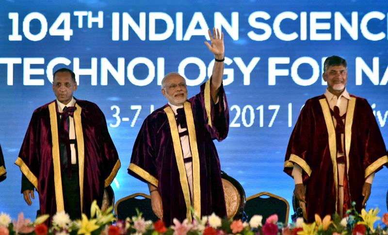 PM's address at the inauguration of the 104th Session of the Indian Science Congress, Tirupati