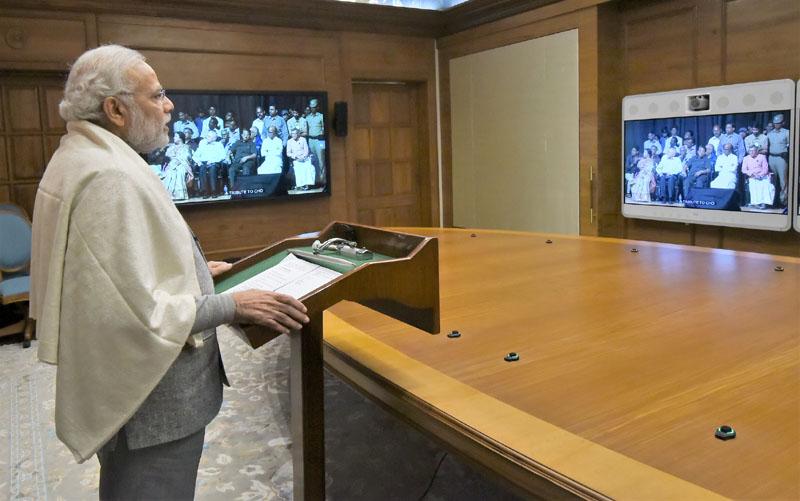 चेन्नई में आयोजित 'तुगलक का 47वां वर्षगांठ – श्री चो रामास्वामी को श्रद्धांजलि' कार्यक्रम में वीडियो कॉन्फ्रेंस के जरिये प्रधानमंत्री का संबोधन