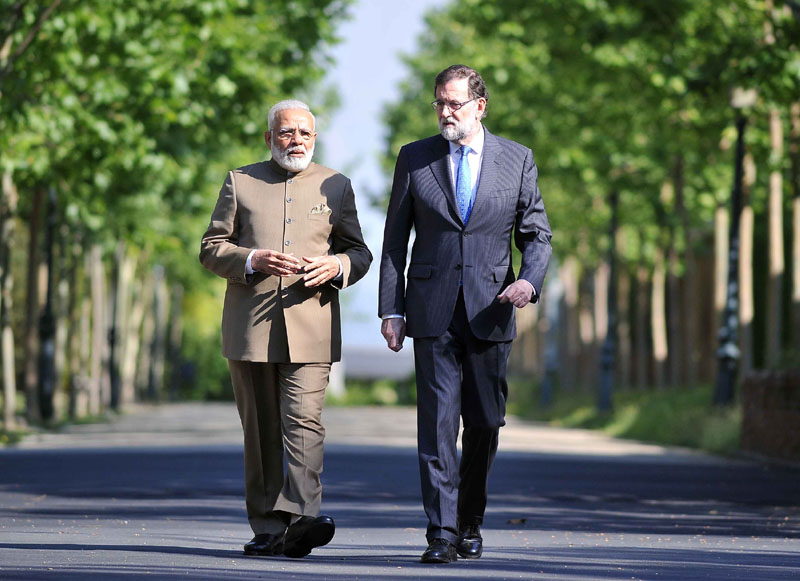 PM holds talks with President Mariano Rajoy in Madrid; Seven agreements exchanged between India and Spain