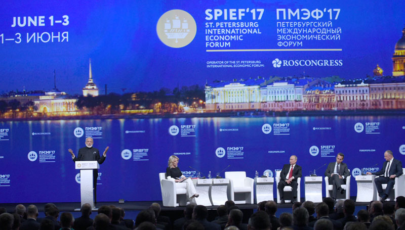 PM addresses Plenary Session of St. Petersburg International Economic Forum