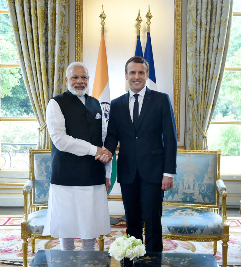 PM holds talks with French President Emmanuel Macron in Paris