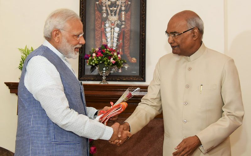 PM congratulates Shri Ram Nath Kovind on being elected the President of India