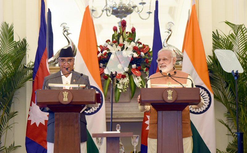 نیپال کے وزیر اعظم دیوبا کے دورے کے دوران وزیر اعظم کا پریس بیان