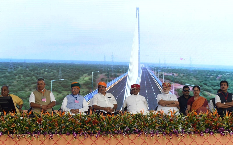 PM's speech at the inauguration and laying of foundation stone of various major highway Projects in Rajasthan
