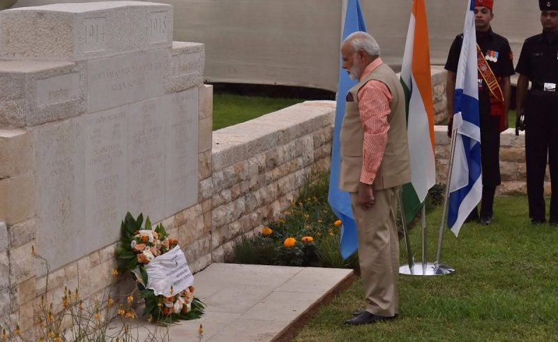 PM salutes the brave Indian soldiers who laid down their lives to liberate Haifa in 1918