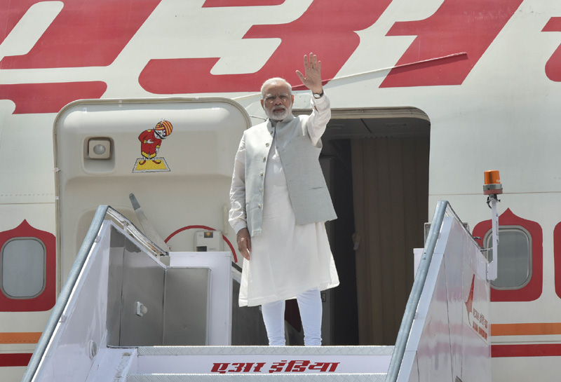 PM departs for China to attend the 9th BRICS Summit, in Xiamen, China (September 03, 2017)
