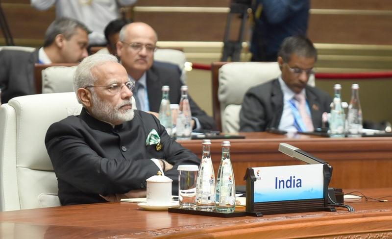 The Prime Minister, Shri Narendra Modi at the Plenary Session of the 9th BRICS Summit, in Xiamen, China on September 04, 2017.