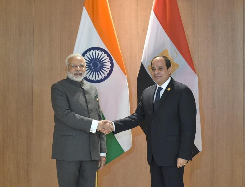 The Prime Minister, Shri Narendra Modi meeting the President of Egypt, Mr. Abdel Fattah el-Sisi, on the sidelines of the 9th BRICS Summit, in Xiamen, China on September 05, 2017.