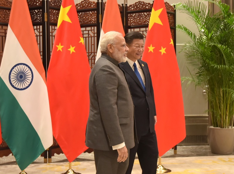 The Prime Minister, Shri Narendra Modi meeting the President of the People's Republic of China, Mr. Xi Jinping, on the sidelines of the 9th BRICS Summit, in Xiamen, China on September 05, 2017.