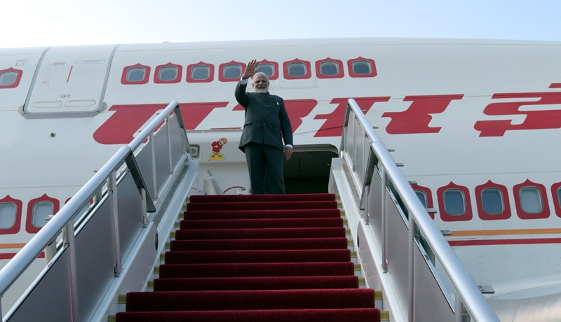 The Prime Minister, Shri Narendra Modi leaving for Myanmar for a bilateral visit after attending the BRICS Summit, in Xiamen, China on September 05, 2017.