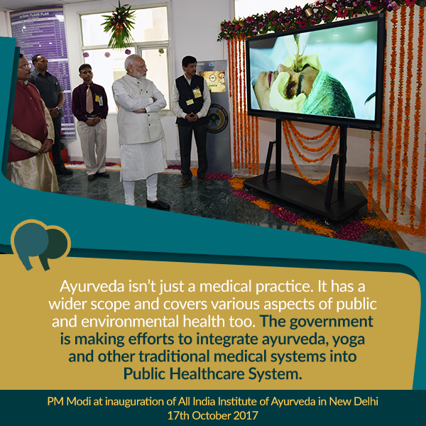 PM at inauguration of All India Institute of Ayurveda