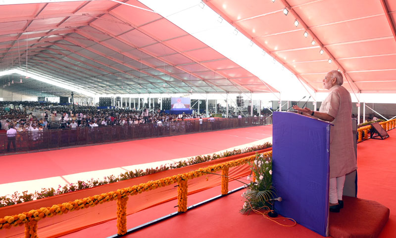 PM's speech at foundation stone laying ceremony of Bridge between Okha and Bet Dwarka