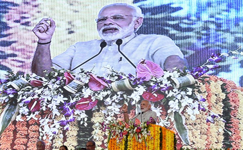 PM's speech at the foundation stone laying ceremony of Greenfield Airport for Rajkot, Gujarat