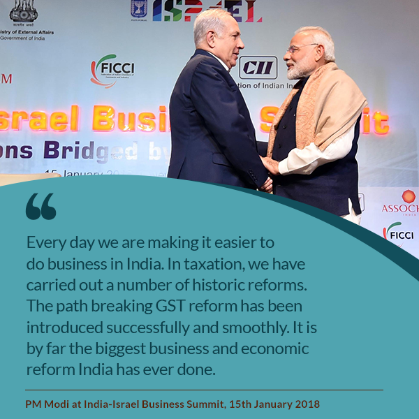 PM Modi at India-Israel Business Summit