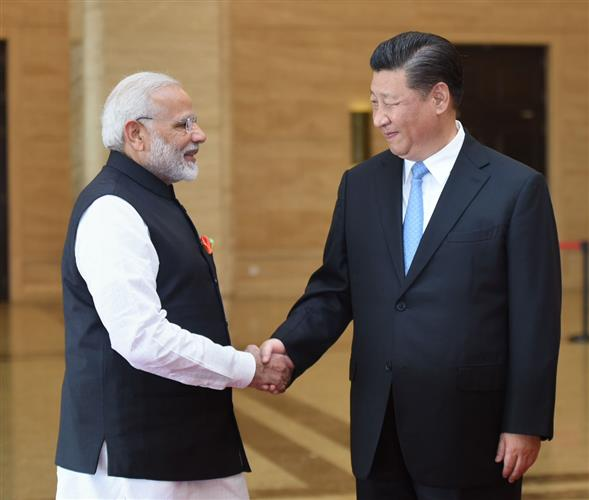 The Prime Minister, Shri Narendra Modi meeting the President of the People's Republic of China, Mr. Xi Jinping, in Wuhan, China on April 27, 2018.