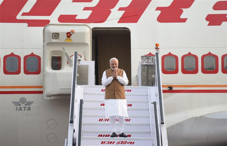 PM arrives at New Delhi, after the informal Summit, in Wuhan, China (April 28, 2018)
