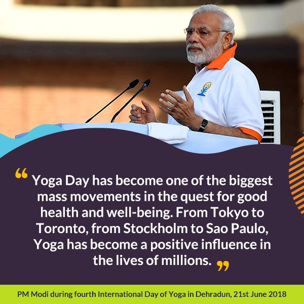 PM during fourth International Day of Yoga in Dehradun