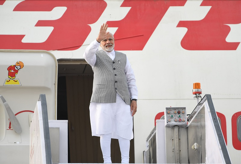 PM emplanes for Qingdao, China to attend the annual SCO Summit (June 09, 2018)