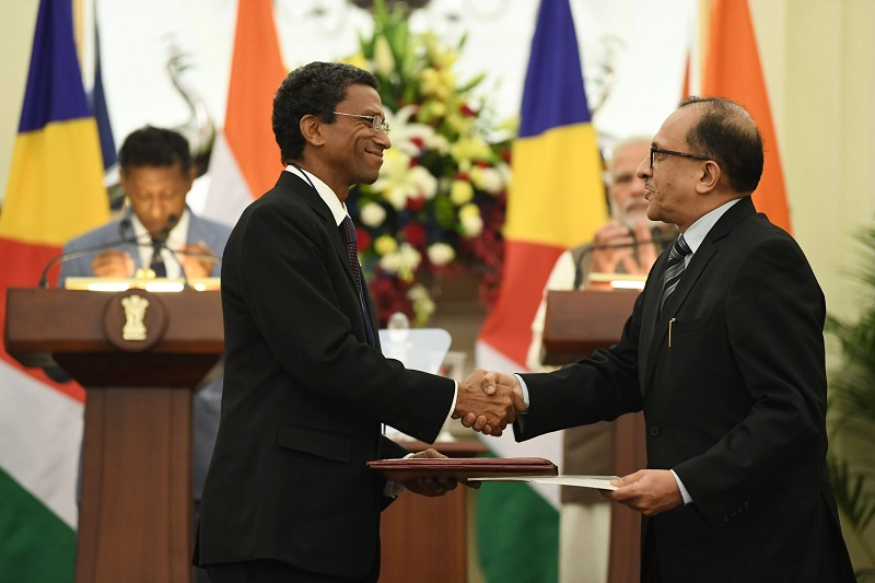 PM's Press statement during visit of President of Seychelles to India