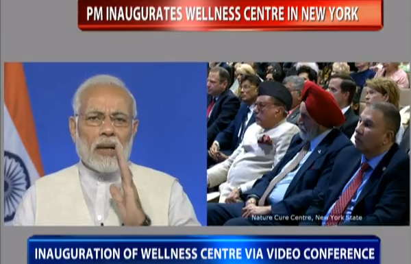 PM's address at the inauguration of the Nature Cure Centre in New York, USA via video conferencing