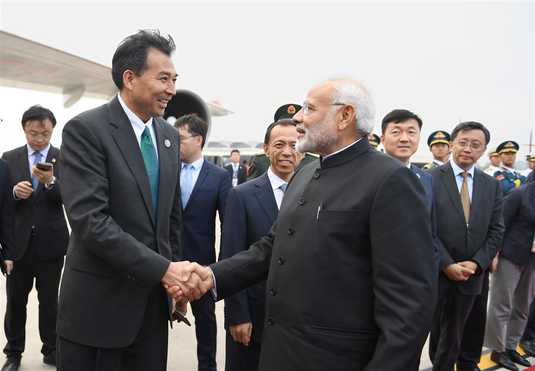 The Prime Minister, Shri Narendra Modi departs from Qingdao, China after attending the Shanghai Cooperation Organisation (SCO) Summit, on June 10, 2018.