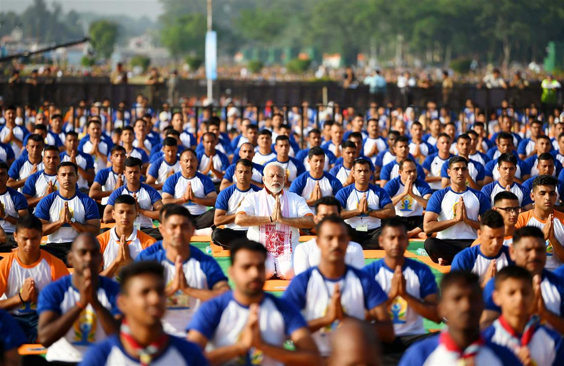 PM's speech at celebrations of the 4th Yoga Day in Dehradun