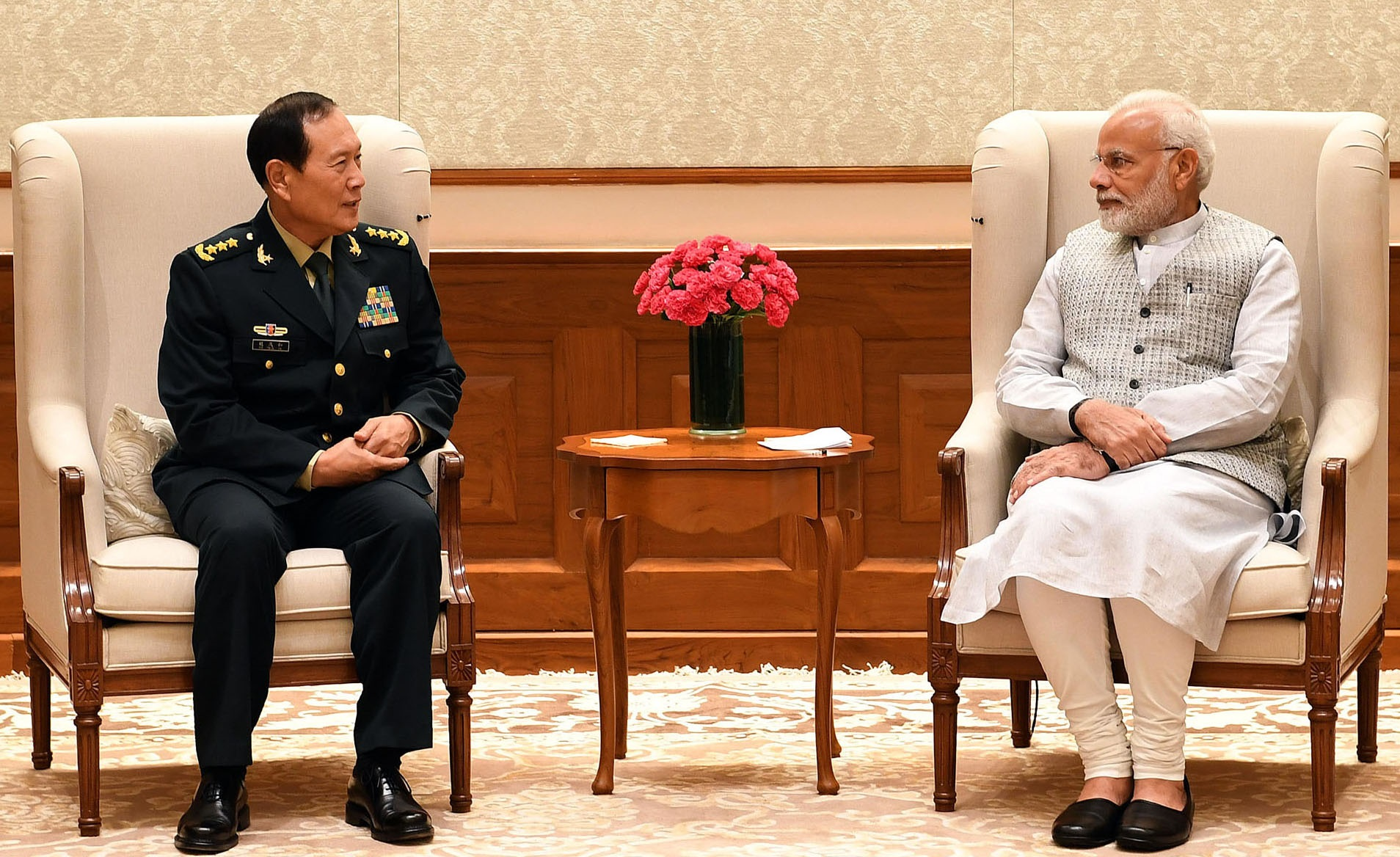 Defence Minister of China calls on PM (August 21, 2018)