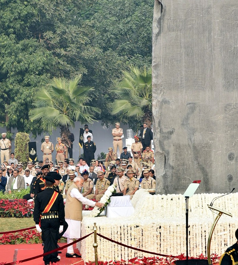PM dedicates National Police Memorial to the Nation: announces an award in the name of Subash Chandra Bose