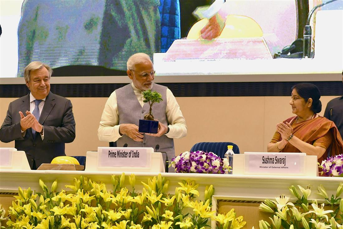 PM's address at the inauguration of first assembly of International Solar Alliance