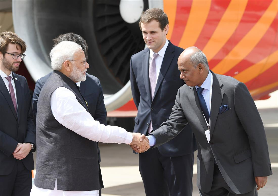 The Prime Minister, Shri Narendra Modi arrives at Ministro Pistarini International Airport, Buenos Aires to attend the 13th G20 Summit in Argentina, on November 29, 2018.