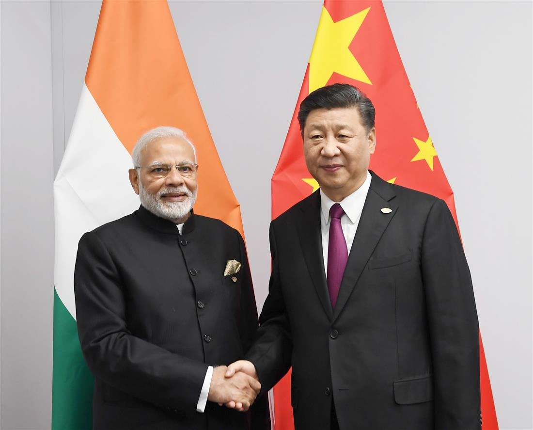 The Prime Minister, Shri Narendra Modi meeting the President of the People's Republic of China, Mr. Xi Jinping, on the sidelines of the 13th G20 Summit, in Buenos Aires, Argentina on November 30, 2018.