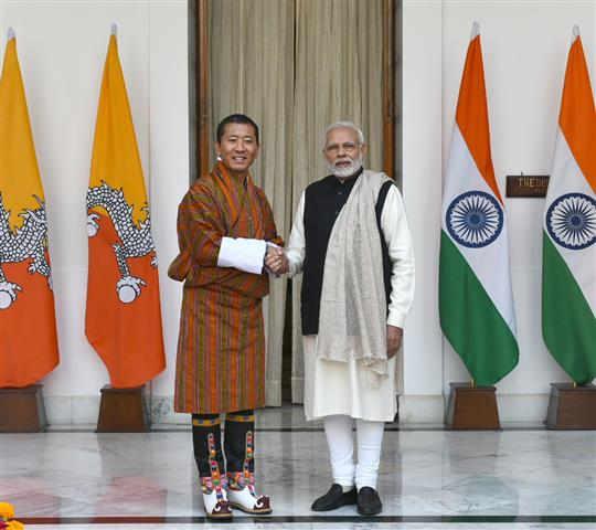 PM's Press statement during the state visit of Prime Minister of Bhutan to India