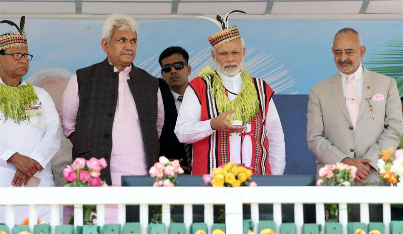 PM in Car Nicobar: Interacts with Tribal Chiefs Inaugurates ITI and Modern Sports Complex