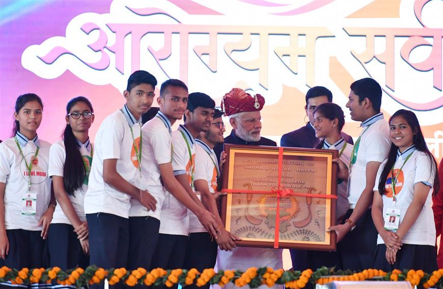 PM's speech at foundation laying ceremony of various development projects in Silvassa