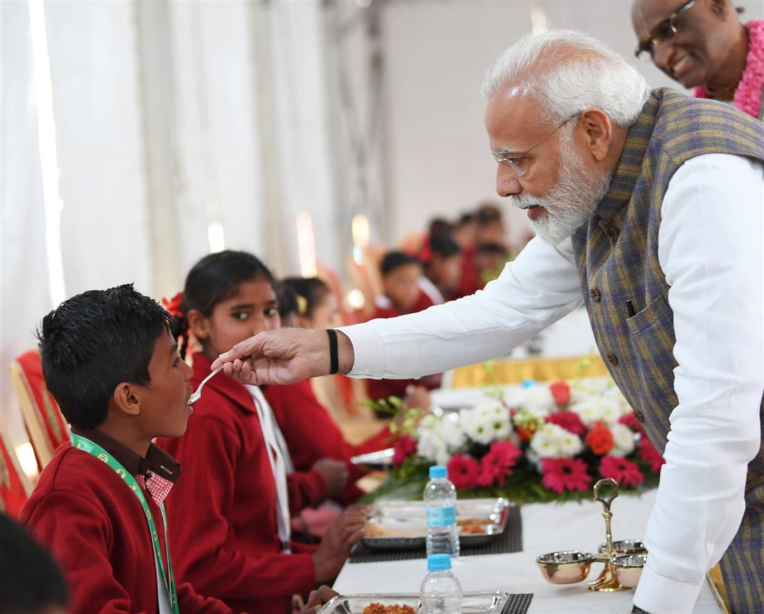PM serves 3 billionth meal to underprivileged children in Vrindavan