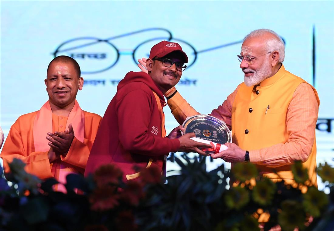 PM addresses Swachh Kumbh, Swachh Aabhaar programme in Prayagraj