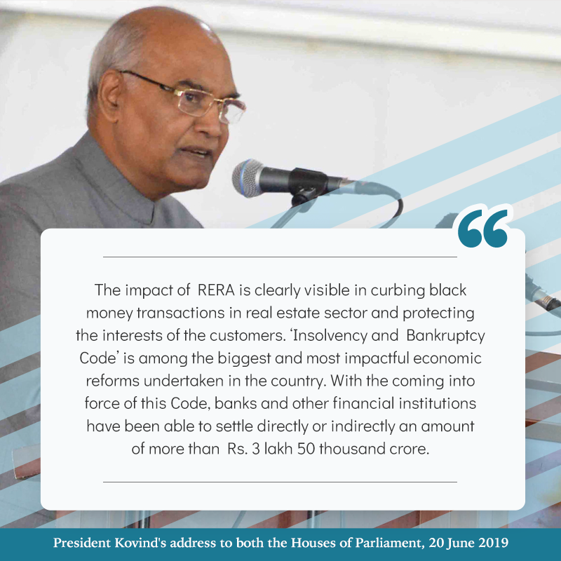 President Kovind's address to both the Houses of Parliament