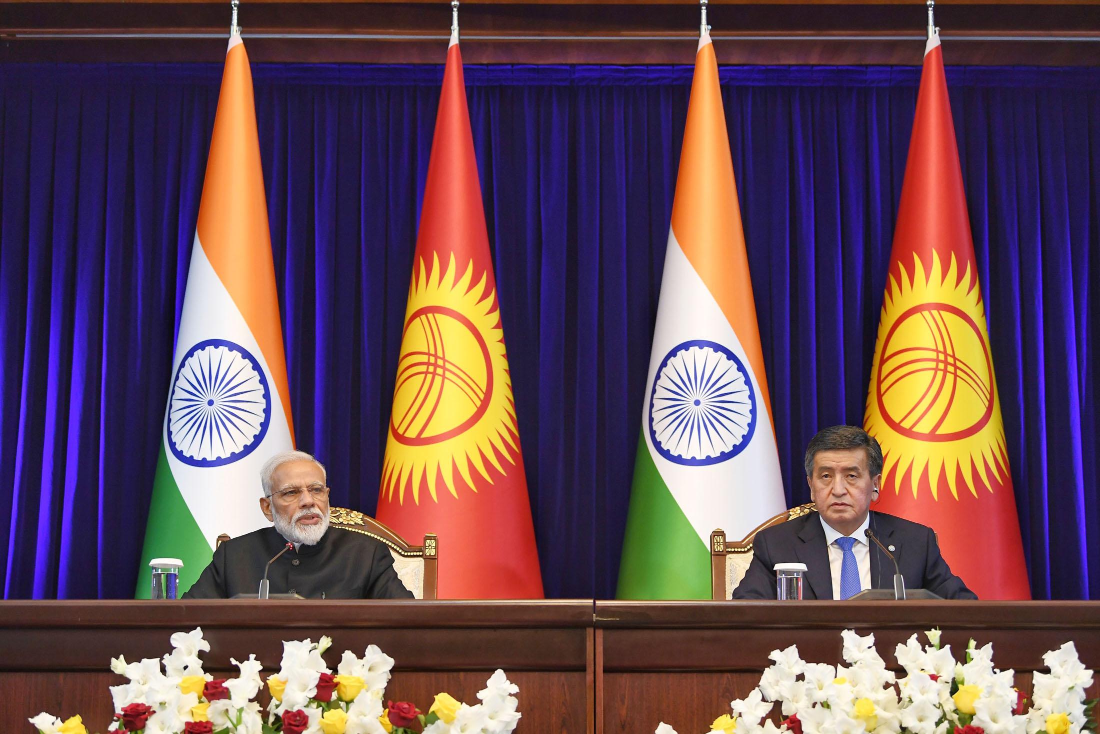 प्रधानमंत्री की किर्गिस्तान की यात्रा के दौरान भारत और किर्गिस्तान के बीच घोषणाओं/समझौतों की सूची