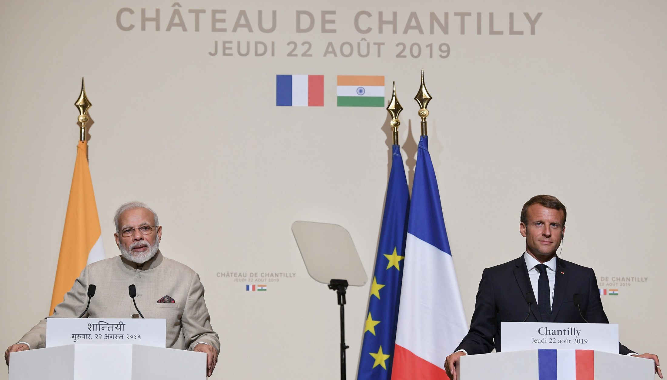 Press Statement by PM during his visit to France