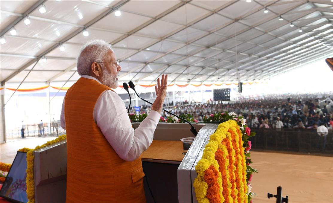 PM's address at the public meeting in Kevadia, Gujarat